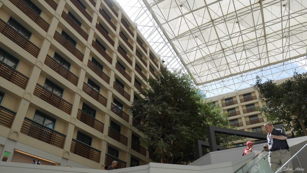 Vue de l'hôtel depuis la cours intérieure