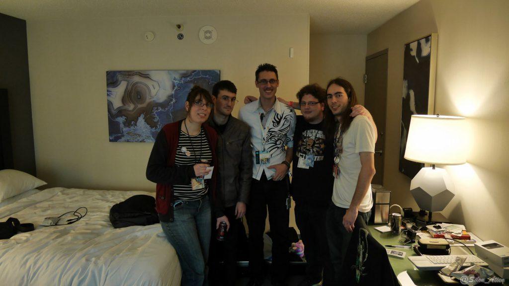 De gauche à droite : Adlyhn, Xefir, Austin, Otak et Silou