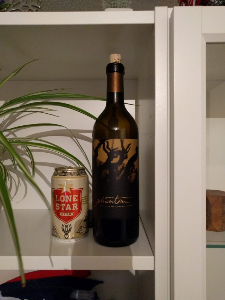 We kept the bottle of wine in souvenir